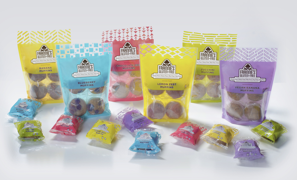 Frannie's Gluten Free carries 6 flavors – Banana, Blueberry, Chocolate Chip, Lemon Zest, Zucchini and Vegan Banana – which cover 7 and sometimes all 8 of the most common food allergies.
