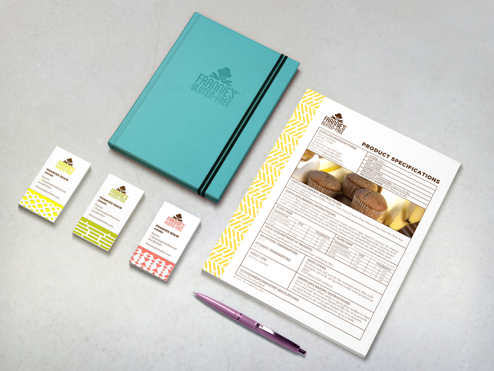 The new brand identity was implemented across all materials, including business cards and sales sheets with product specification to provide a cohesive look and feel at every touchpoint.
