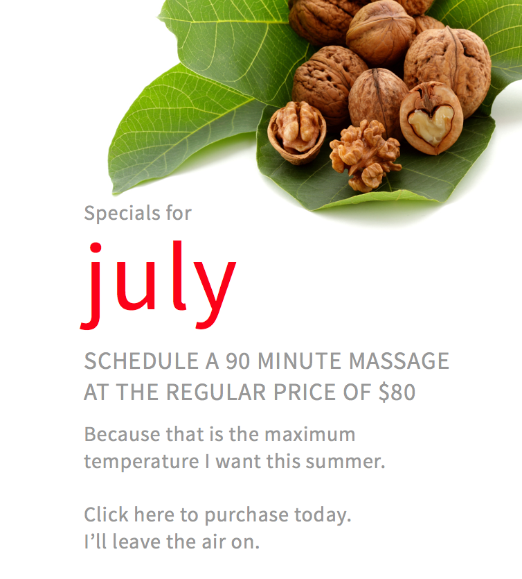 Reneu u massage july specials
