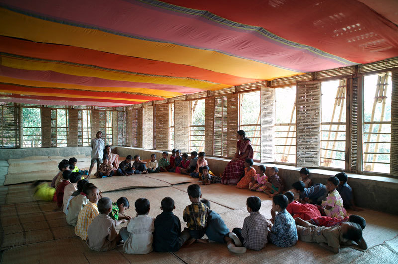 METI – Handmade School in Rudrapur, Bangladesh, by Anna Heringer. Photo by Kurt Hörbst, courtesy MoMA