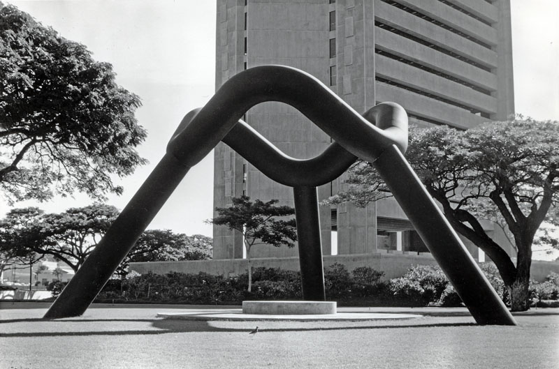 Noguchi built the Sky Gate (1976) in Honolulu, Hawaii, which tracks the movement of sunlight, much like the instruments at Jantar Mantar.