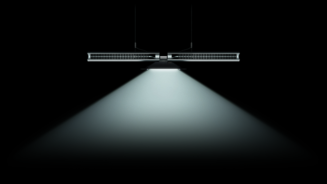 The Cu-Beam light uses a single high-powered LED that is kept at peak efficiency by heat-pipe technology. It comes in both uplighting and downlighting versions.