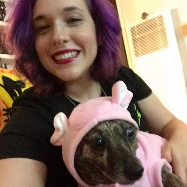 It's @terilynntroxie's bday!!! She's incredible. Our dog also loves her. . . . #birthday #wife #dog #puppy #costume #bestwife #bestwifeever #gravityfalls #couplegoals #marriedlife #petowners #rescue