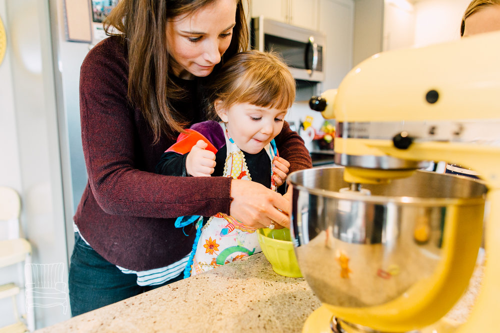 Mother-Daughter Baking session. Look at the expression on that sweet face!