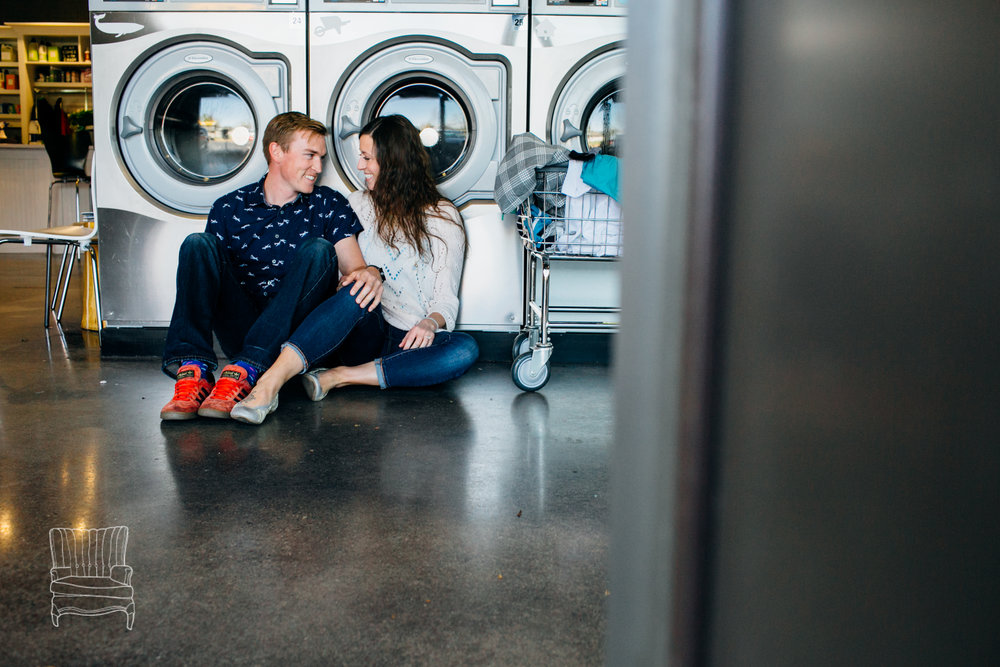 Laundromat Session for a couple that lives on a boat and does a LOT of laundry