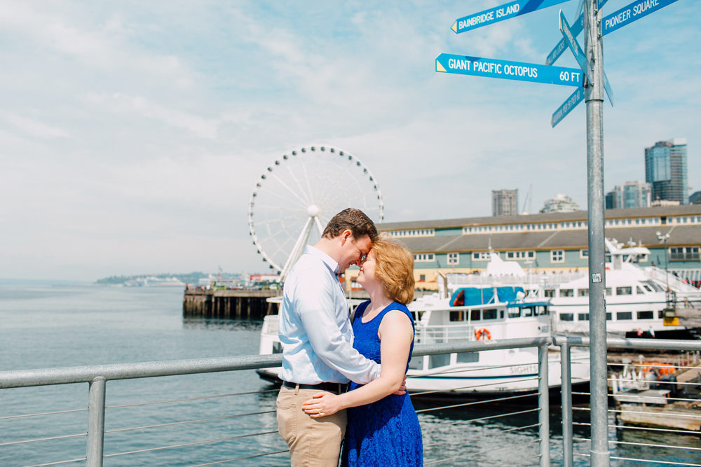 Seattle Engagement Photographer Katheryn Moran, Seattle Great Wheel, Indianola