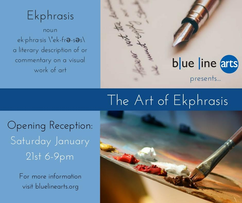 "Happy to include ""No Horizon, No Sky"" in this upcoming exhibition. Hope to see you at Blue Line Arts!"