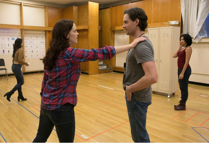 JD Taylor in rehearsal for Jiehae Park's  peerless  at Yale Repertory Theatre