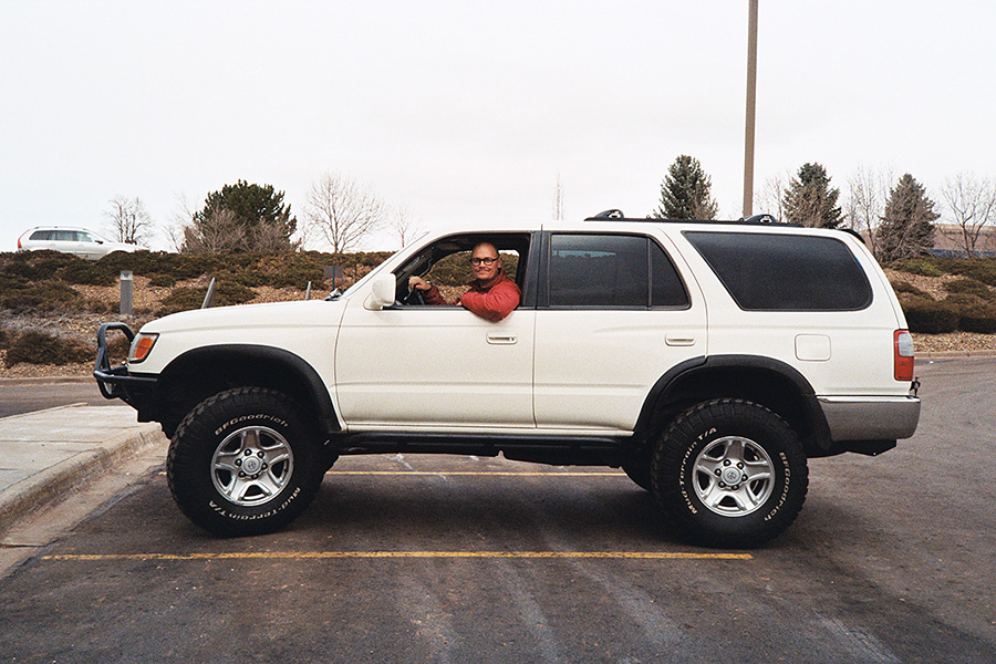 Me, in my new to me, 1999 Toyota 4runner.