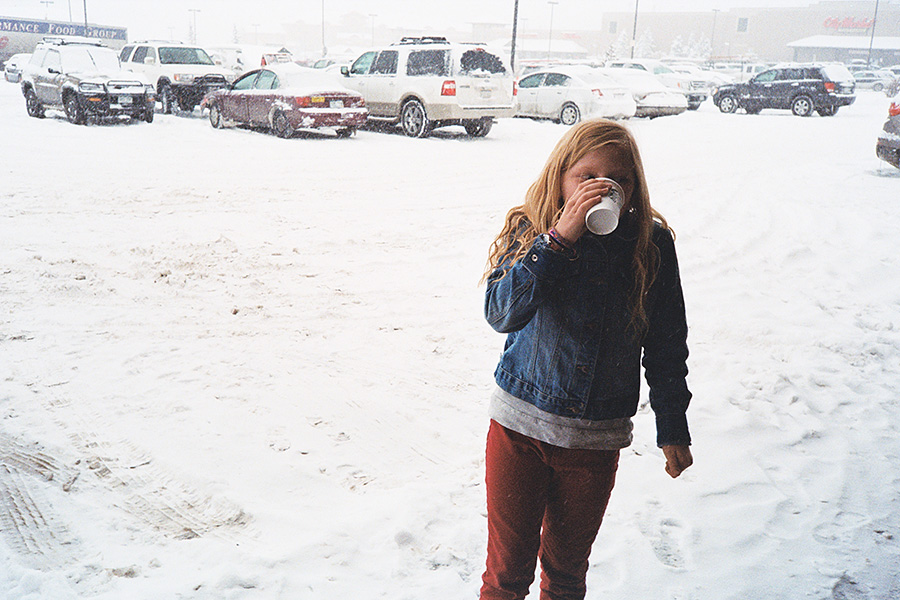 Coffee (for me) / hot chocolate (for her) stop.