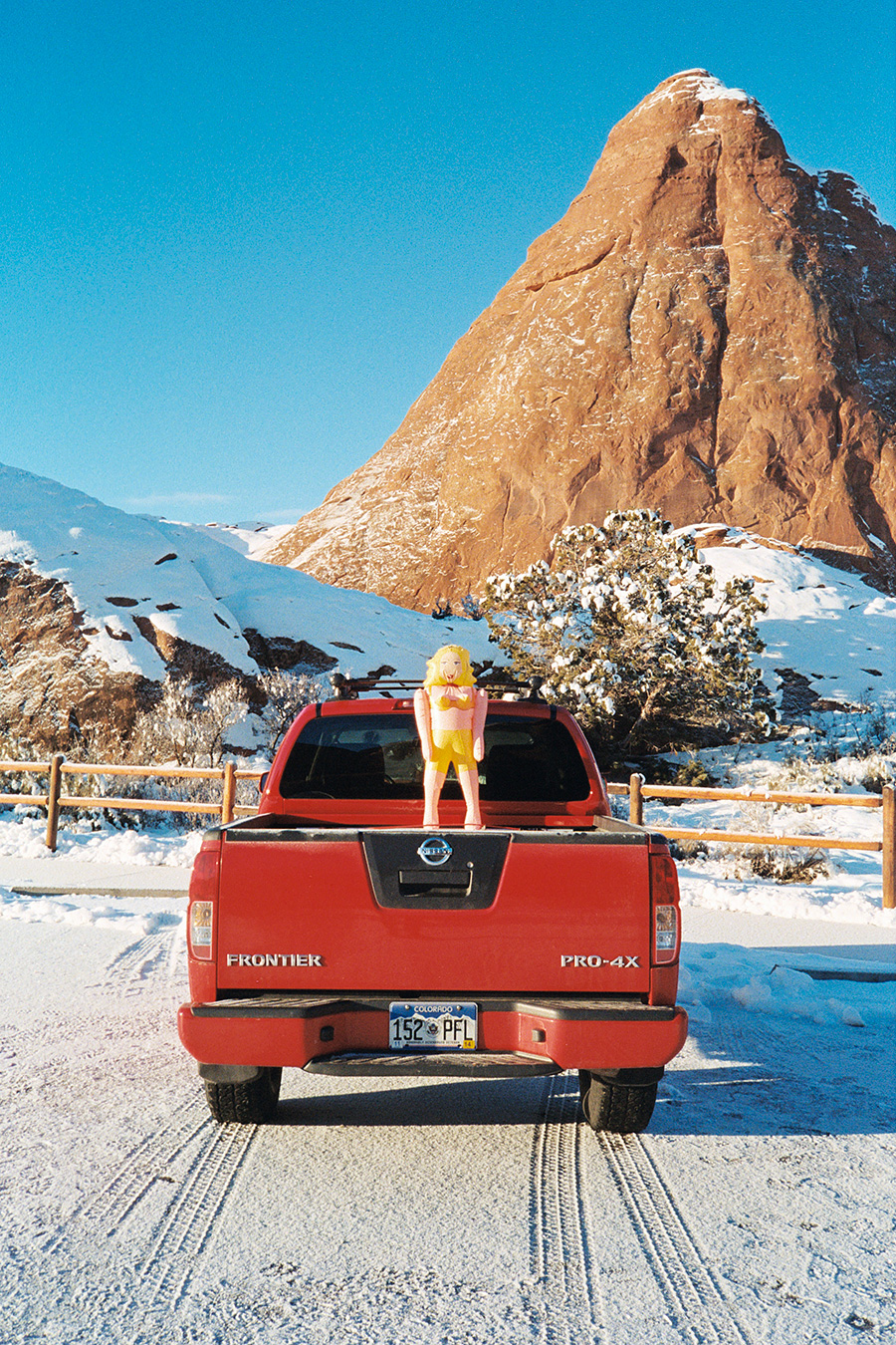 Out of the three or four cars we saw our whole time in Arches, of course one had to have a blow up doll strapped to it.