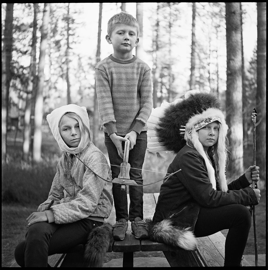 Bentley with Grace and Jasper - Photographed on a Minolta Autocord on TRI-X film.