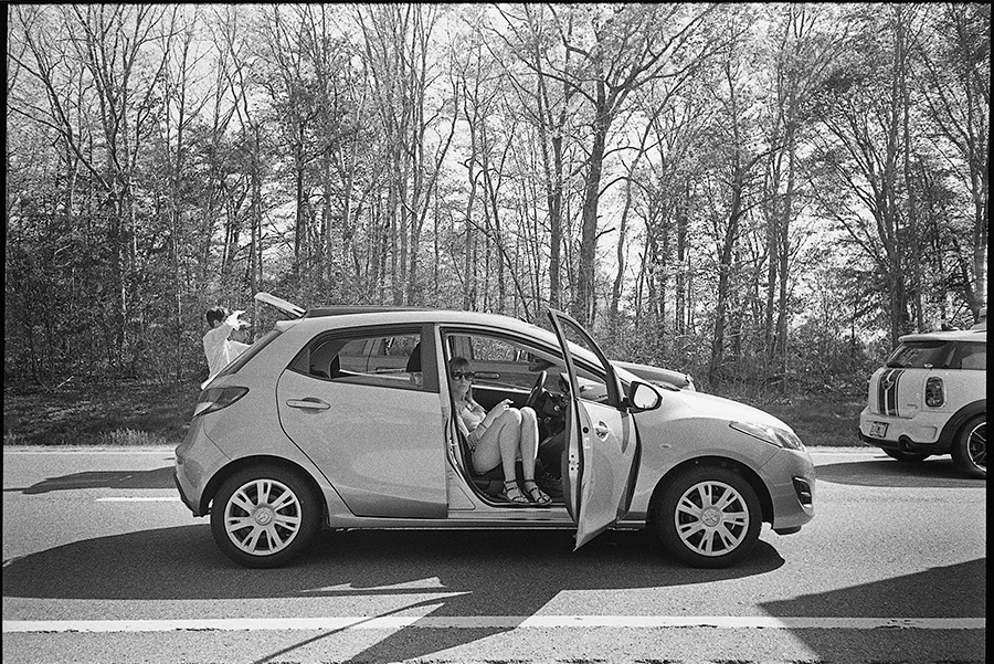 Leaving Knoxville on our way back to Nashville to fly home and the entire I-40 was closed for over an hour due to a motorcycle crash. Also, our rental car...hahahahahhahahaha.