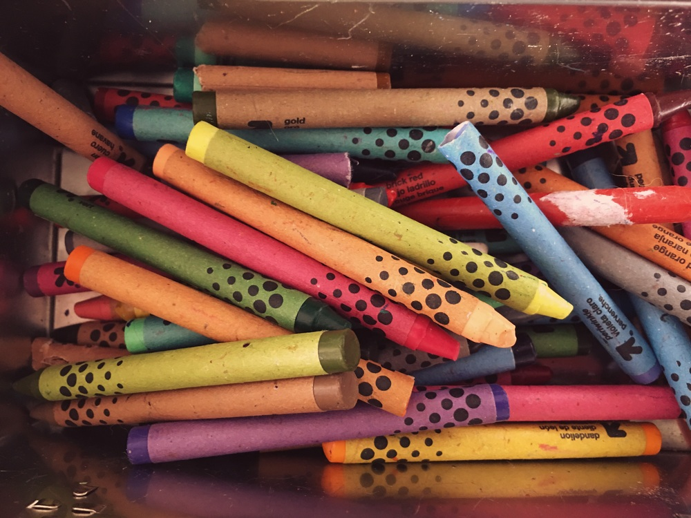 Crayons. A must have for this activity.