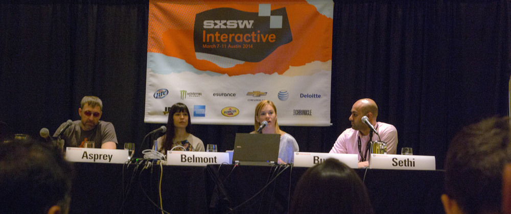 Dave Asprey - @bulletproofexec :: Veronica Belmont -http://swordandlaser.com/ :: Stephanie Burnes (Moderator) :: Maneesh Sethi -http://hackthesystem.com/