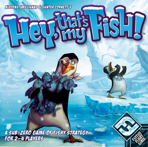 HEY, THAT'S MY FISH!        TIME: 20  PLAYERS: 2-4  DIFFICULTY: LIGHT Category: Abstract, Strategy Hey, That's My Fish! is an award-winning, vicious, fish hunt between you and your friends. It has become widely popular as an engrossing and strategic board game simple enough for anyone to enjoy. Plus it has penguins, who doesn't love penguins?