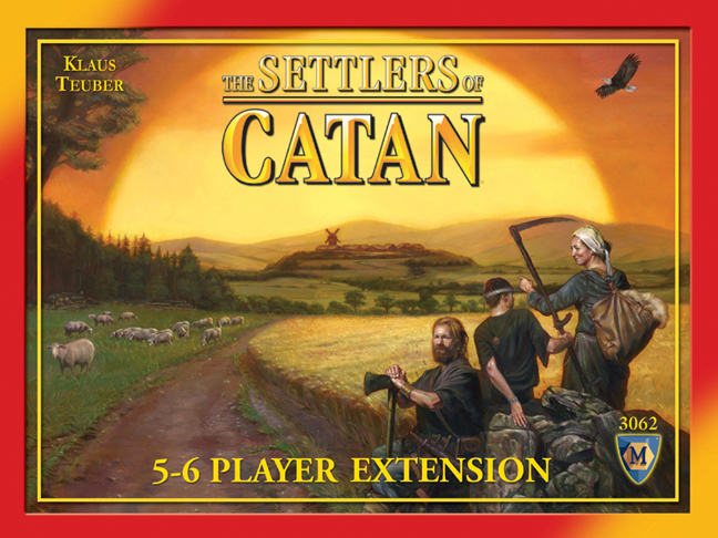 THE SETTLERS OF CATAN  TIME: 90 PLAYERS: 3-6DIFFICULTY: MEDIUM Category: Negotiation, Hand Management, Strategy With over 15 million copies and over thirty translations, The Settlers of Catan has become somewhat of a pop icon in nerd culture. It is touted as the quintessential gateway game to introduce new gamers to modern day board games. The rules are simple, you're involved in the game even when it's not your turn. It's great fun and enjoyed all around the world. See for yourself what it's all about.