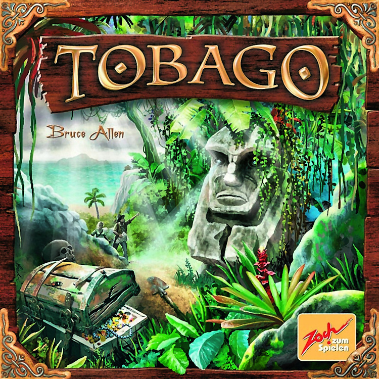 TOBAGO  TIME: 60 PLAYERS: 2-4DIFFICULTY: MEDIUM Category:Hand Management, Strategy Sandy beaches, raging rivers, dense jungle, mini jeeps and treasure hunters, welcome to Tobago! As you cruise the beautifully crafted island you'll be narrowing down potential treasures buried through-out the land. This is quite a chilled game and the mechanics of this game are a truly unique experience. If this sound like something you'd dig, try Tobago.