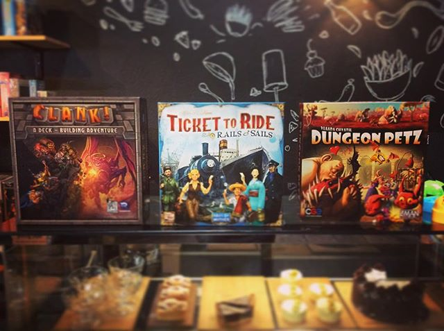 New to The Hungry Hippo shelves we've got Clank! A deck building adventure game for 2-4 players. Ticket to Ride, Rails now with sails too for 2-5 players. And last Dungeon Petz, get in to the  monster trade with 2-4 players.
