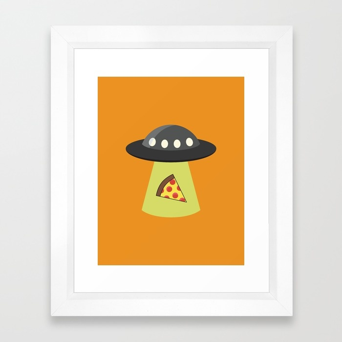 Take Me To Your Pizza Framed Art Print