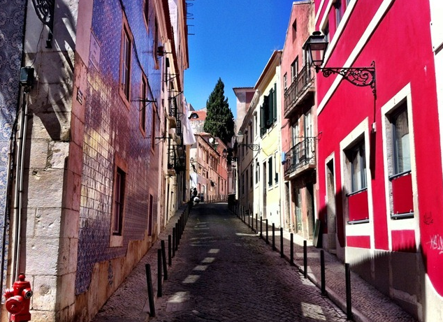 The Bairro Alto street where our apartment was located