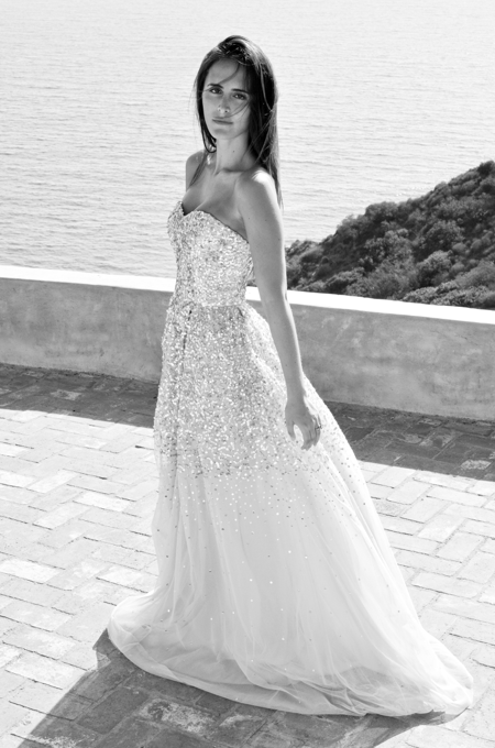 Dress by Rachel gilbert and H.Stern cocktail ring Photo by Yuliia Barbashova