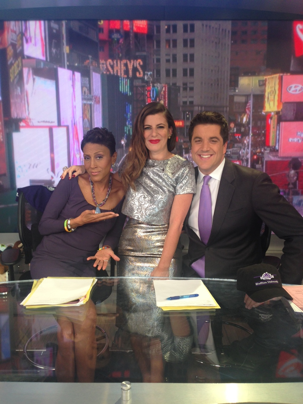 Michelle with GMA hosts Robin Roberts and Josh Elliot