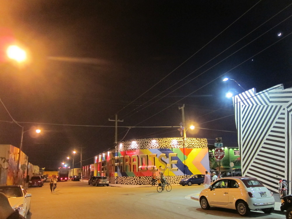 Wynwood Walls at night.