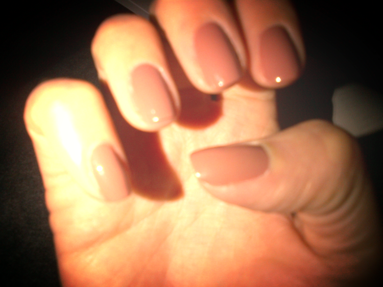 I just found my new nail shade for Spring:  Chocolate Mousse by OPI .  So elegant and it goes with everything I wear.
