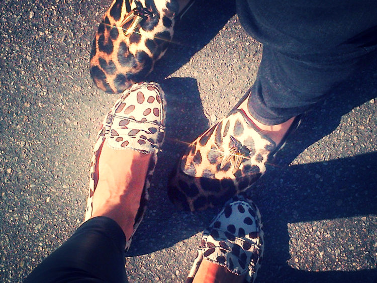 Leopard loafer twins with my buddy Adam. He works in the fashion industry and we try to work together as much as possible.