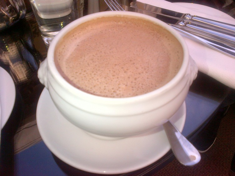 Only at Chateau Marmont do you get served a soup bowl of steaming hot chocolate.