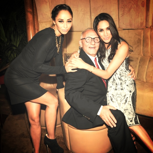 Girl's Night with Meghan Markle and New York Fashion Week. Here we hung with BCBG designer Max Azria. Woops, I was wearing Alexander Wang! Shh. Don't tell.