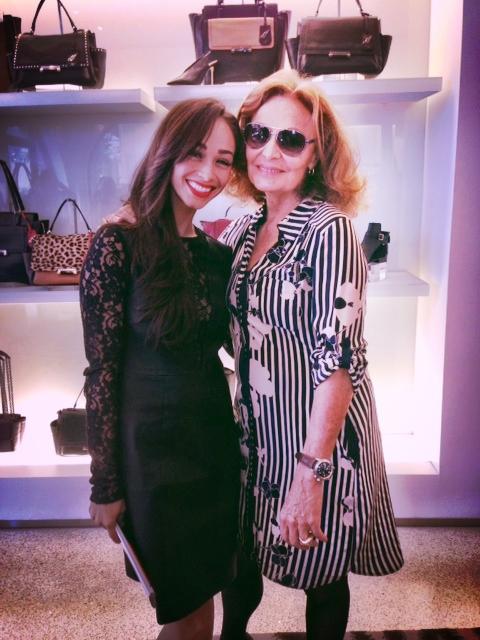 Just chilling with Diane Von Furstenberg in Dallas...