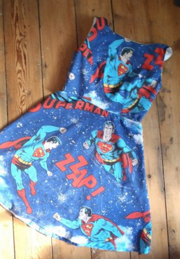 Vintage Superman dress 70s retro geek superhero;