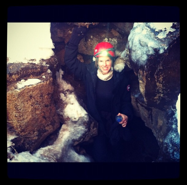 "From Fuschia's MUSE diary - After climbing through a lava and ice cave in Iceland feeling, ""like a bit of a bad ass."""
