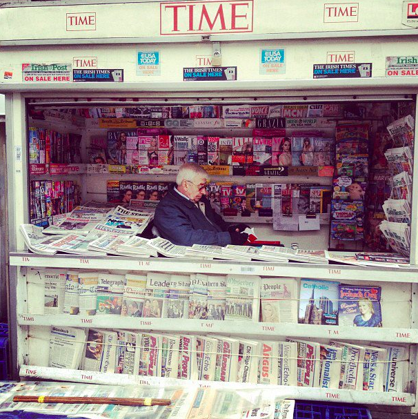 A news stand in Camden Town. Very Old School.
