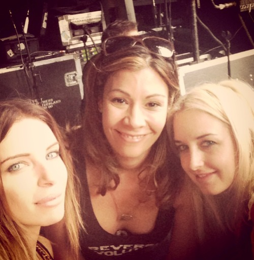 Risa, Brit and I at the READING festival.
