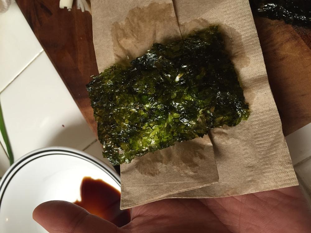 Seaweed then flip.
