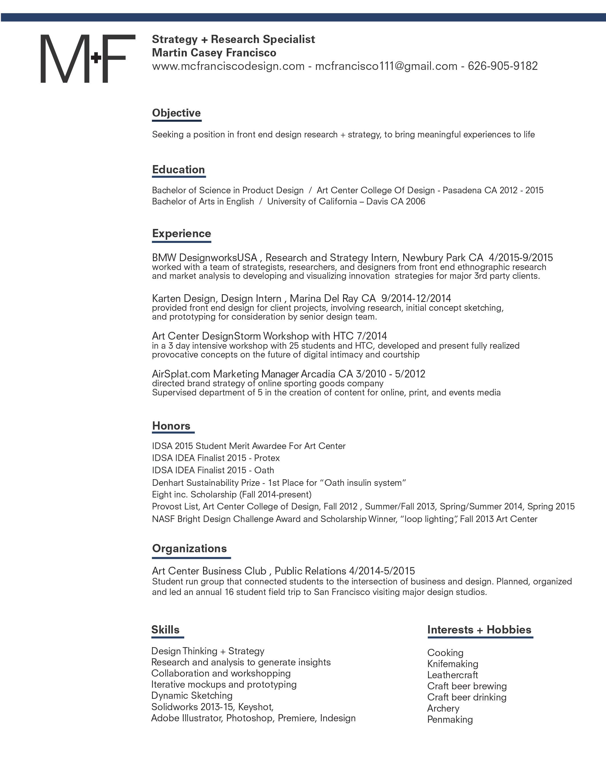 Resume Processform