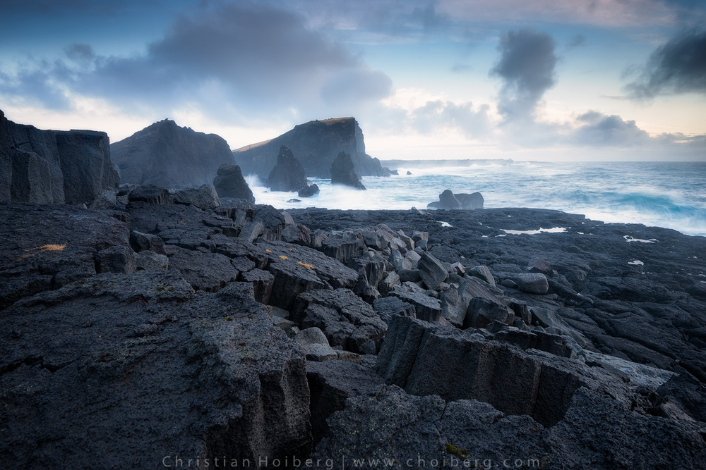 Rugged landscape at the Reykjanes Peninsula