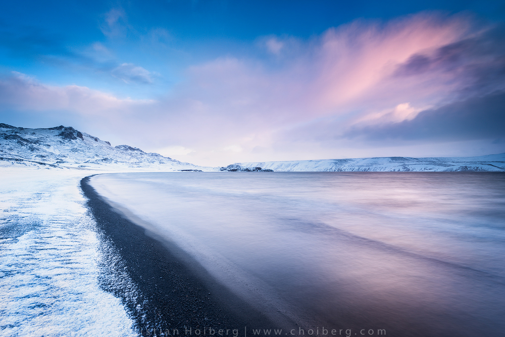 Sunrise at Kleifarvatn Beach