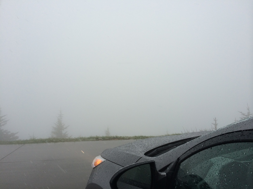 Not much of a view from Clingmans Dome