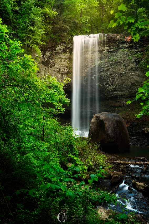 Hemlock Falls in the late evening