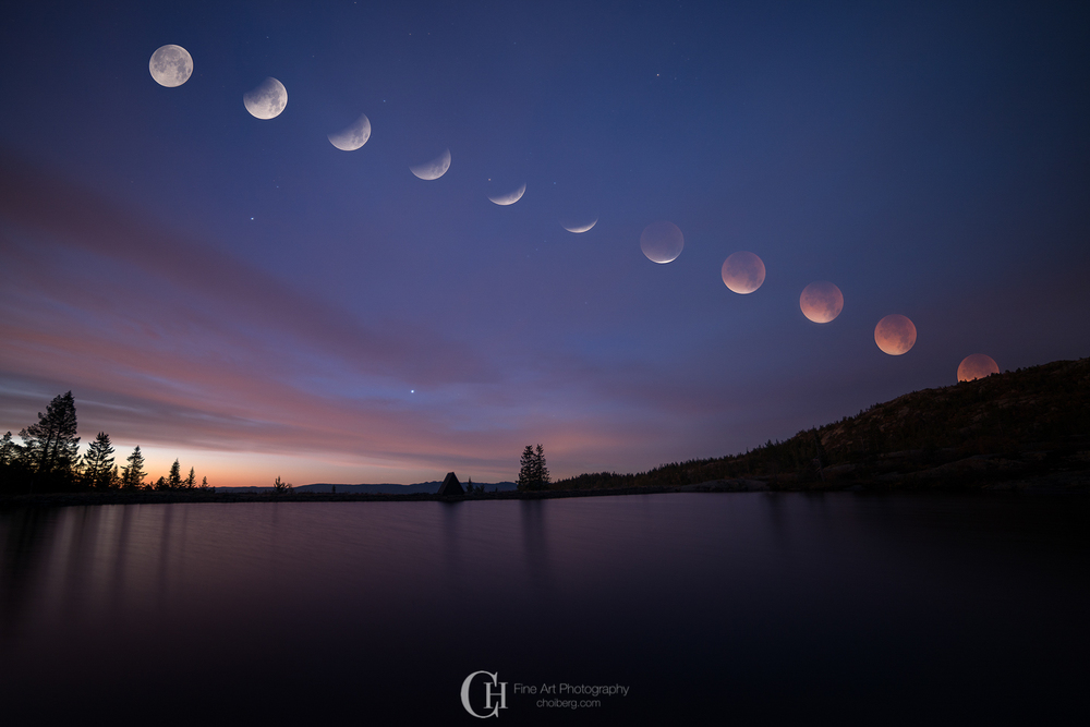Sequence of the lunar eclipse September 2015