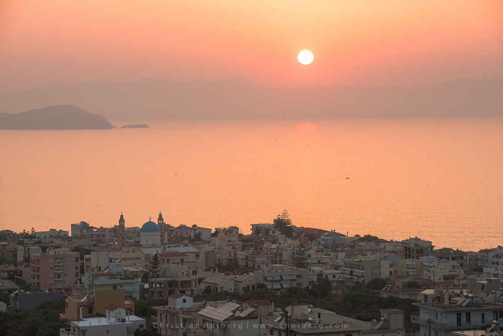 Sunset from downtown Chania