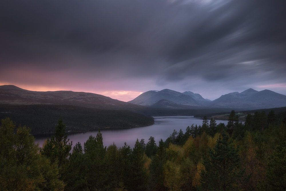 Long Exposure of a beautiful lake right outside of Rondane National Park in Norway