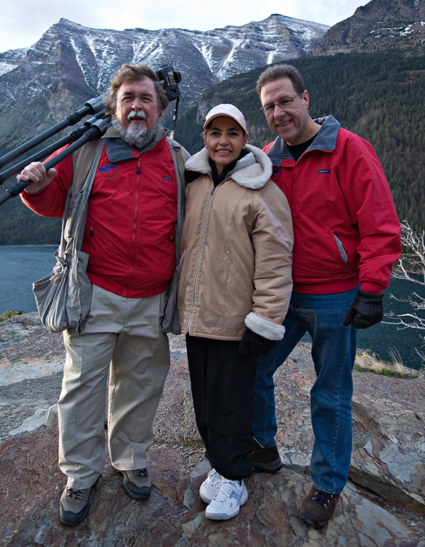 Bill, Sandra and Scott at Sun Point, just after a dawn shoot.