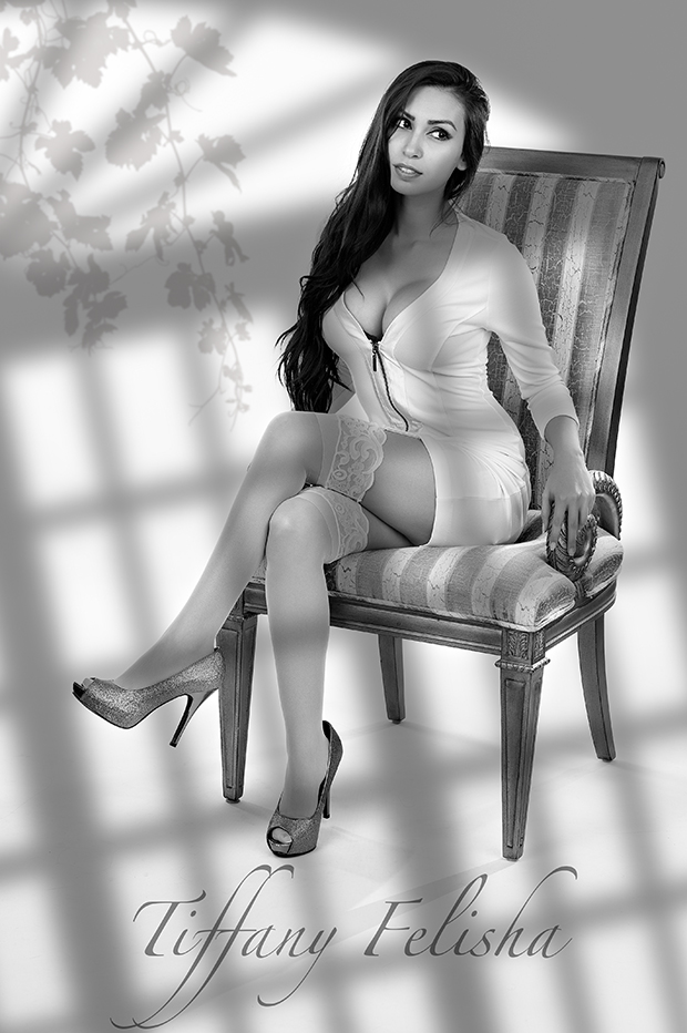 A promotional image of Tiffany Felisha.