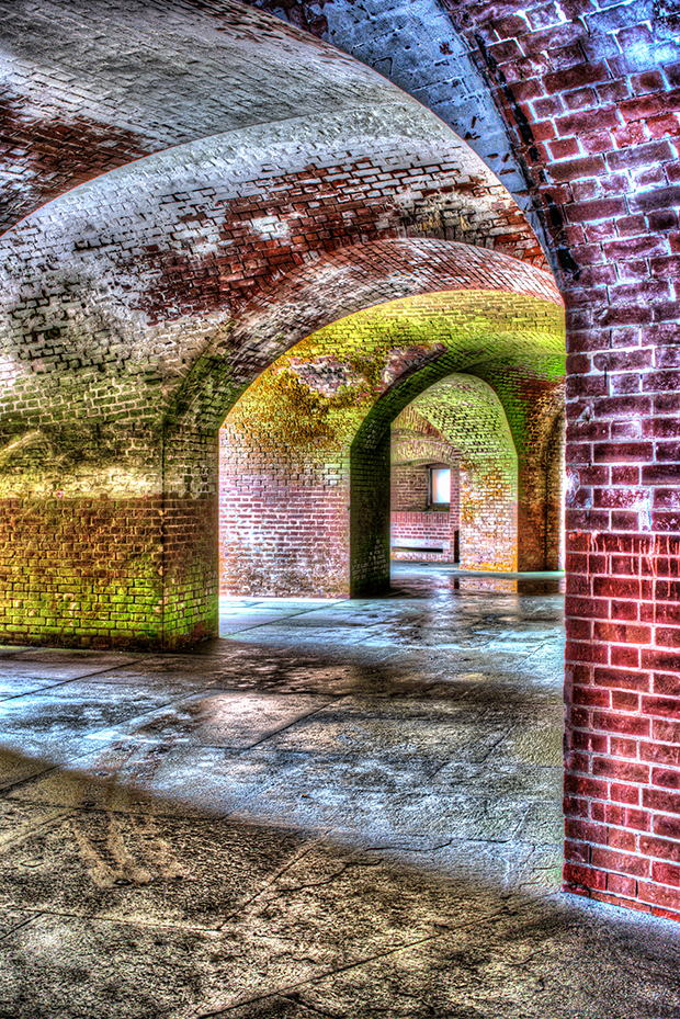 HDR can bring color and detail from the shadow areas.