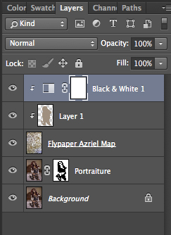 Here is what the Layer Panel looks like at this point.